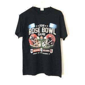 2018 Rose Bowl Black Graphic M T-Shirt GA vs OK